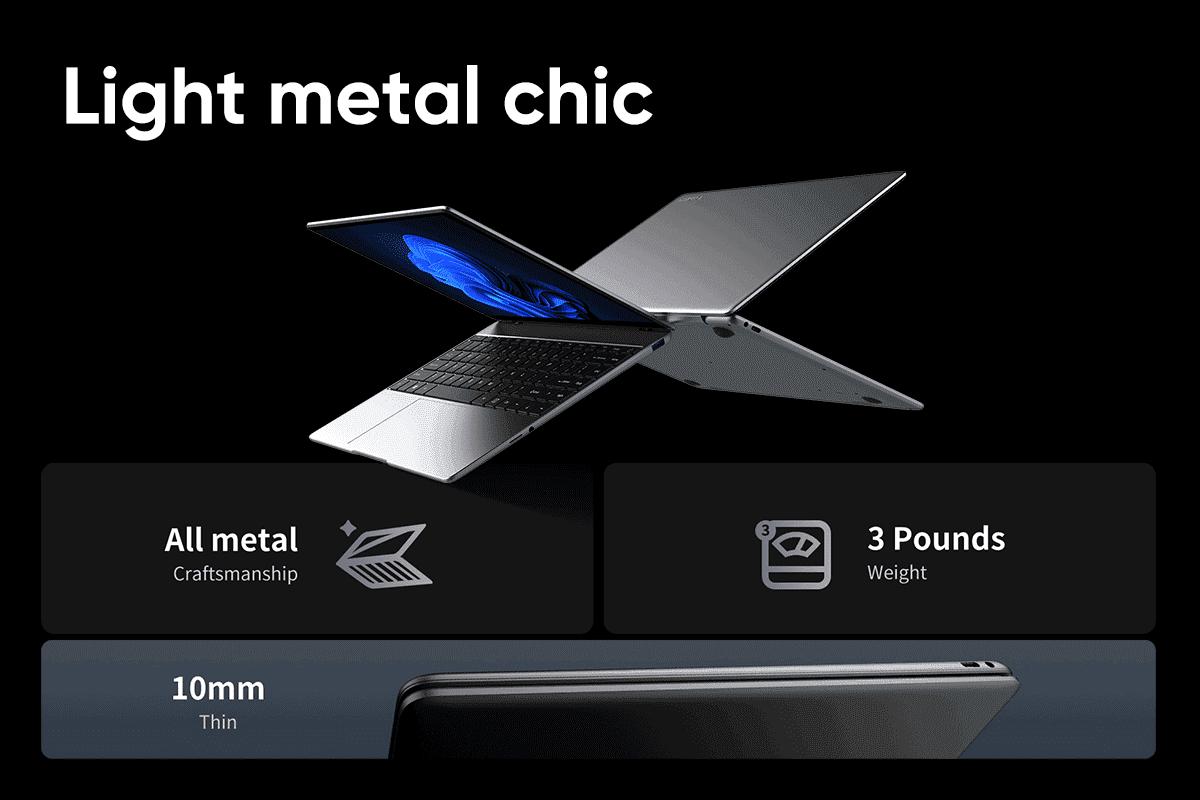 Chuwi LarkBook X: Cенсорный 2K-экран и Windows 11
