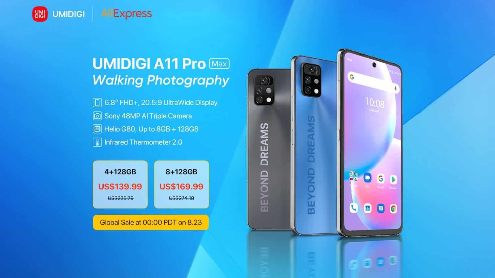 Встречайте UMIDIGI A11 Pro Max: Тройная камера Sony 48MP AI