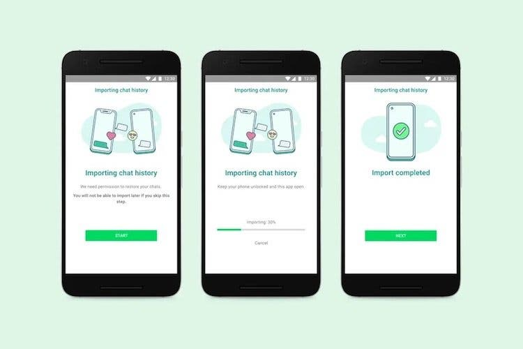 WhatsApp уже поддерживает полную передачу чата с iPhone на Android