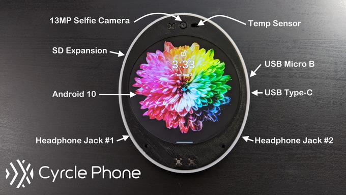 Інноваційний ROUND-смартфон на базі Android — Cyrcle Phone 2.0
