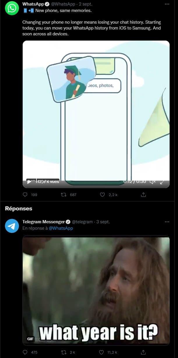 Telegram троллит WhatsApp